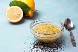 Lemon chia seeds curd