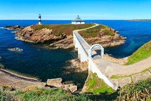 Summer Atlantic coastline.