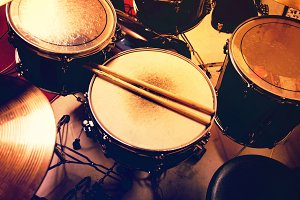Drums. Music concept.