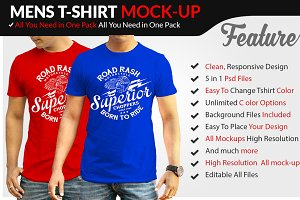 Mens Tshirt Mockup Vol-1.1