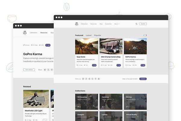 WordPress Minimal Themes: Piotr Kulpiński - Chipmunk - WP Theme for Curators