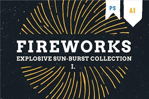 Fireworks - hand draw explosion pack