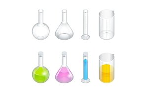 Isometric Chemical test tube set