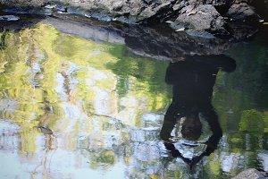 Meditation at waterfall