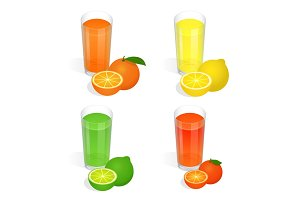Isometric Fresh juices set