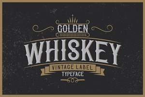 Golden Whiskey typeface