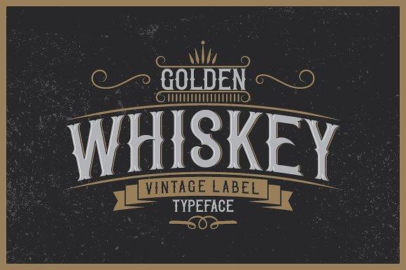 Golden Whiskey Typeface