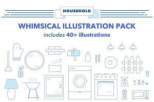 Whimsies Illustration Pack: Home