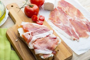 Jamon typical food