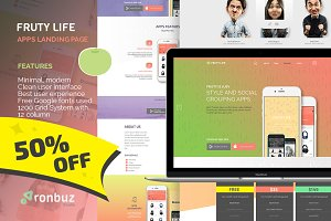 FRUTY LIFE | Apps Landing Page