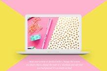 MacBook™ Mockup with a Starburst
