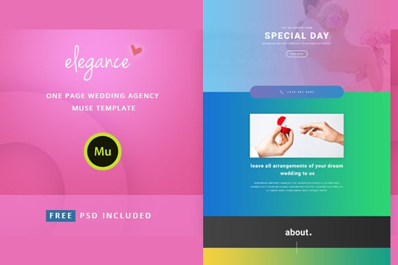 Elegance Wedding Agency Template