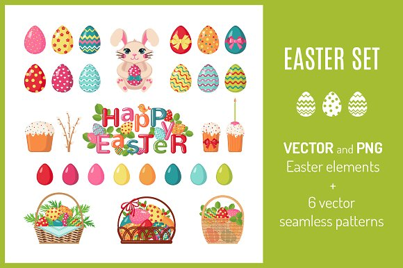 easter pixels wide tall icons patterns creativemarket global