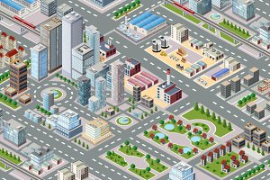 Big isometric city