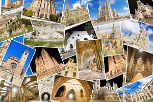 collage of monasterys and cathedrals