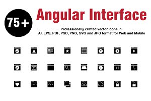 Angular Interface Glyphs icons
