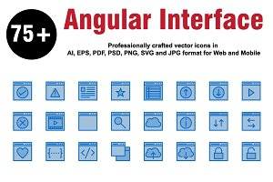 Angular Interface Colour Icons