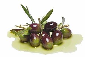 Colorful premium olives.