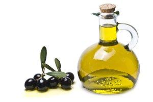 Black olives and oil.