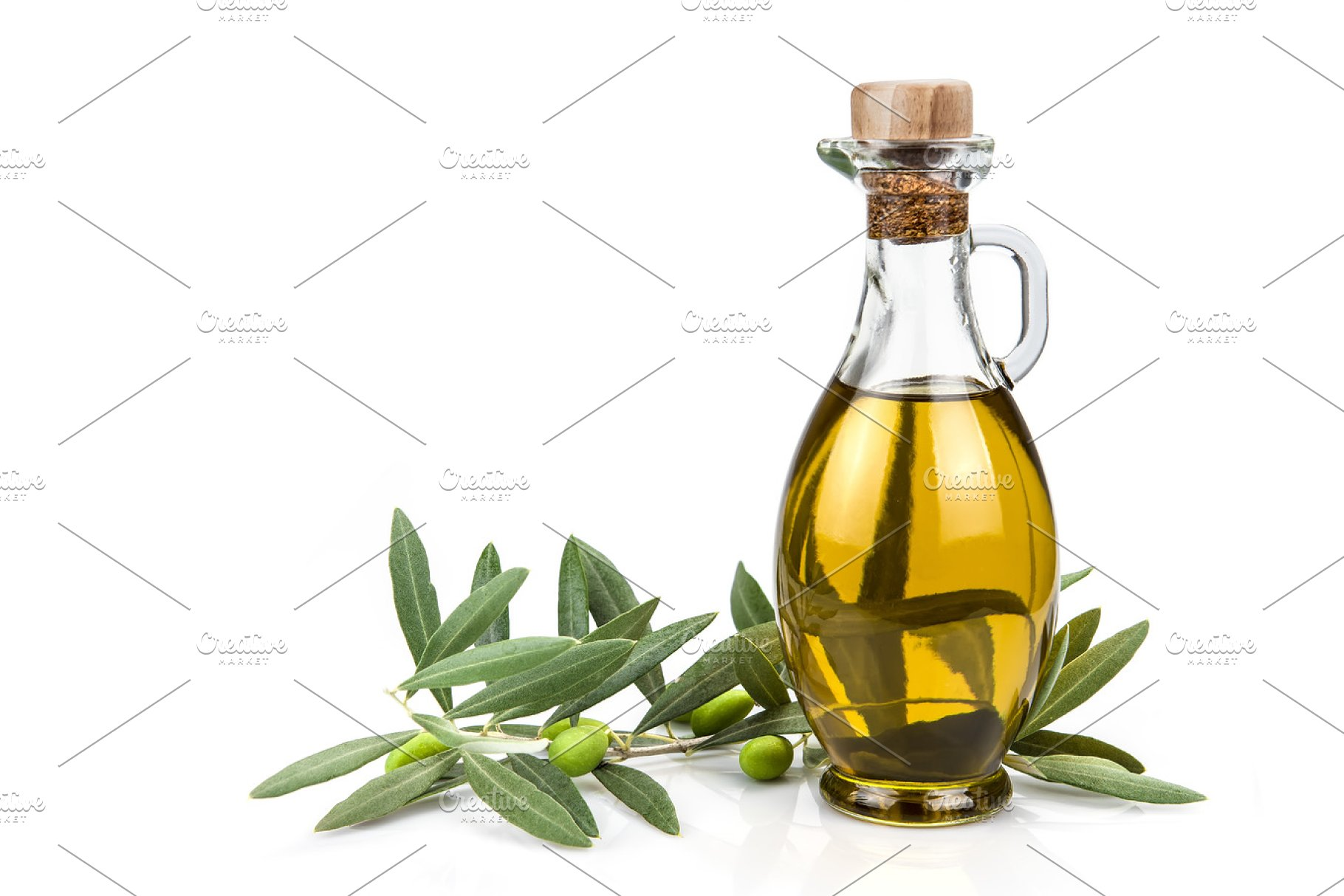 Olive Oil Bottle Isolated On A White Background