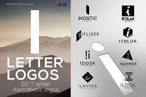 """20 """"I"""" Letter Alphabetic Logos"""