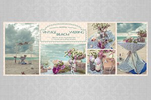 bundle: vintage beach wedding arch