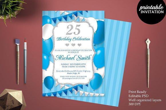 25th Birthday Invitation Template Invitation Templates – Michael Jordan Birthday Invitations