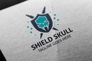 Shield Skull Logo