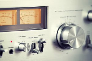 Stereo Amplifier Volume Knob