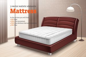Mattress Realistic Set