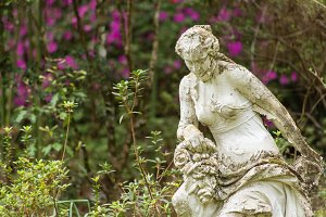 Female Statue in Garden