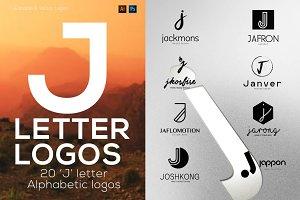 """20 """"J"""" Letter Alphabetic Logos"""