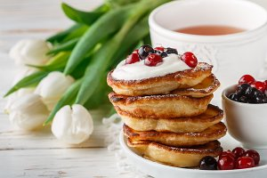 Fritters. Pancakes