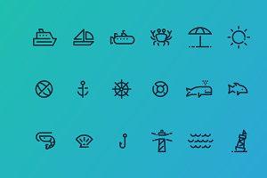 18 Ocean Icons
