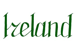 Ireland lettering typographic vector