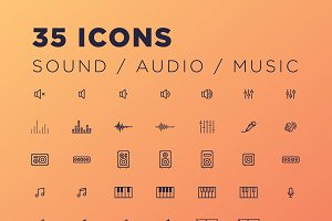 35 Sound/Audio/Music Icons