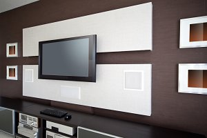 Modern Home Theater Room Interior