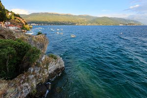 Lake Ohrid summer view.