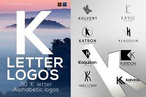 """20 """"K"""" Letter Alphabetic Logos"""
