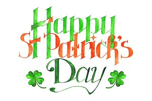 Happy Saint Patrick's Day lettering