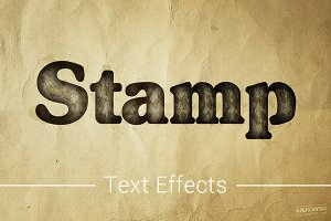 Stamp Ink Text Effects Style