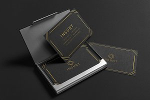 Insunt Gold Black Business Card