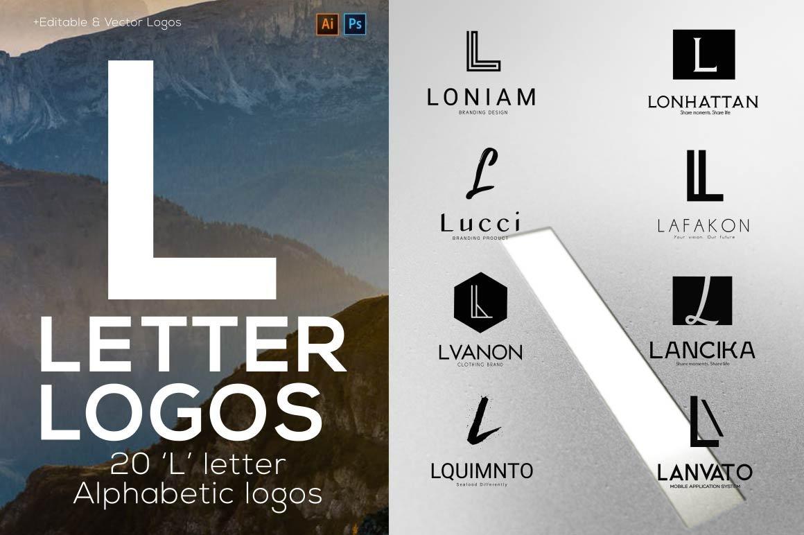 20 Quot L Quot Letter Alphabetic Logos Logo Templates Creative