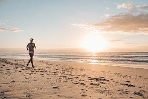 Fitness woman doing running