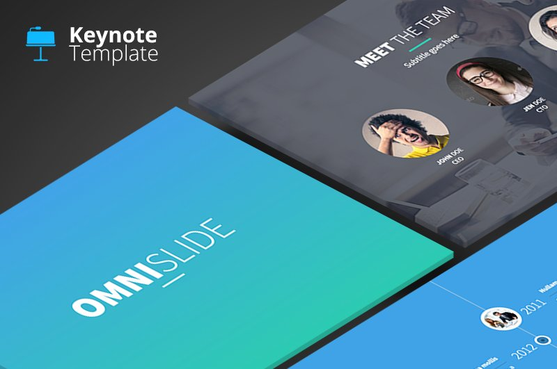 OmniSlides Keynote Template Presentation Templates Creative - Keynote brochure template