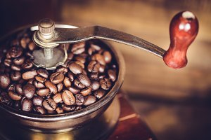 Coffee Mill with coffee bean