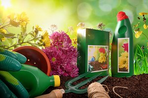 Garden products composition nature