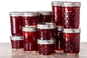 Jars of jelly or jam