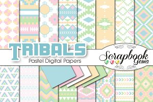 Aztec Digital Papers - Pastels