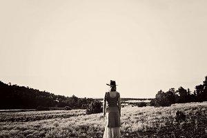 Western Woman on Prairie